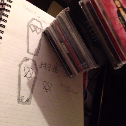 My H.I.M album collection #him #hisinfernalmajesty #heartagram #HIM #ville #burton #gas #mige #linde