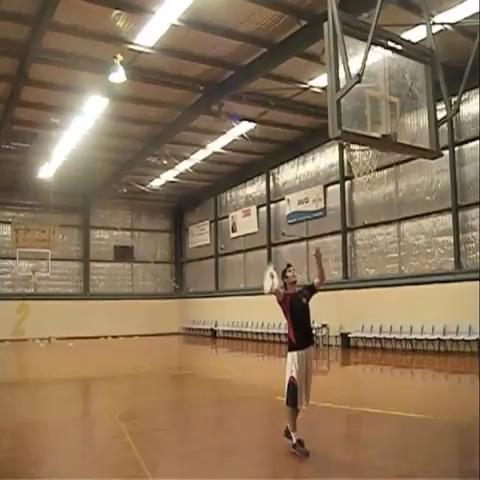 The 180 Fullcourt Jump Shot #brodiesmith #trickshot vine
