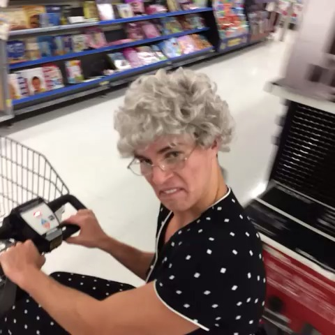 What the twist are you doing inside my store? #grandmabetty vine