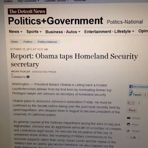 Obama taps homeland security secretary. #omg #comedy1 #popular #EpicFail #best #TEAMSOUR #eminem #teamHotMommas Alphacat vine