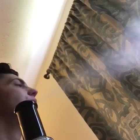 Had me Messed up! 😂😂 Couldn't stop coughing! #Smoke #Tricks #trickshot #funny #Damn #Lit #revine #new #new #FollowMe