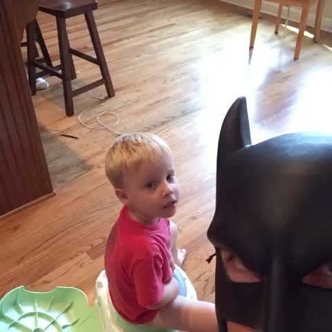 You just peed two minutes ago. #batdad vine
