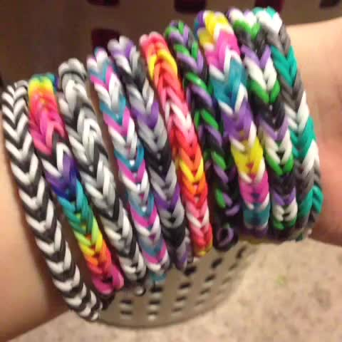 Fishtail Loom Bracelets