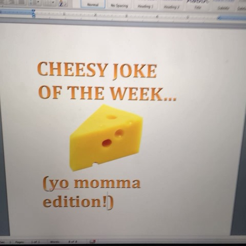 Cheesy joke of the week! Yo mama edition!