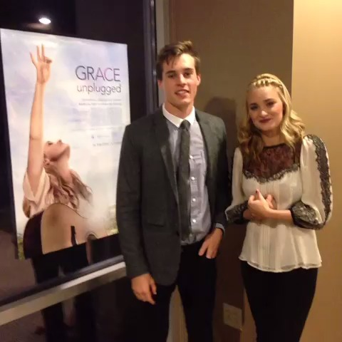Guys this movie was literally amazing! At the premiere of Grace unplugged!  W/ 78violet vine