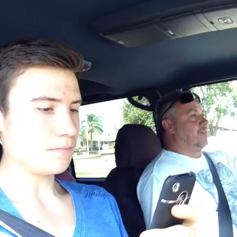 Quality time with my father. vine
