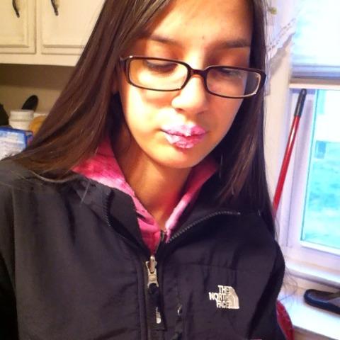 Monique put frosting on her lips 💕😚😂 #LipsLikeSugar #CandyGotchuSprung 🍬🍭