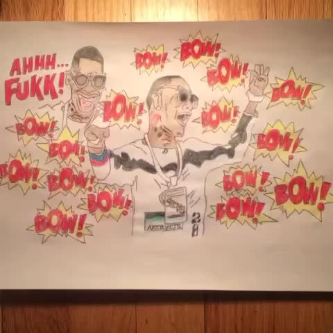 My #souljaboychallange I call this #drawing #bow Ig #artbycj3 #souljaboy #souljaboytellem #shooting
