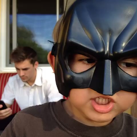 Evancredible as #batbrat. Little punk compared me to Marcus Johns... (S/b Josh Darnit ) BatDad vine