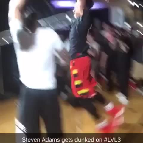 Vine by Ronnie 2K 2K15 - Steven Adams gets dunked on @adidashoops #LVL3 👀