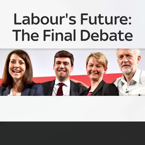 Vine by Sky News - Andy Burnham, Liz Kendall, Yvette Cooper and Jeremy Corbyn go head-to-head in the #LabourDebate, live on Sky News from 6.30pm Thursday.