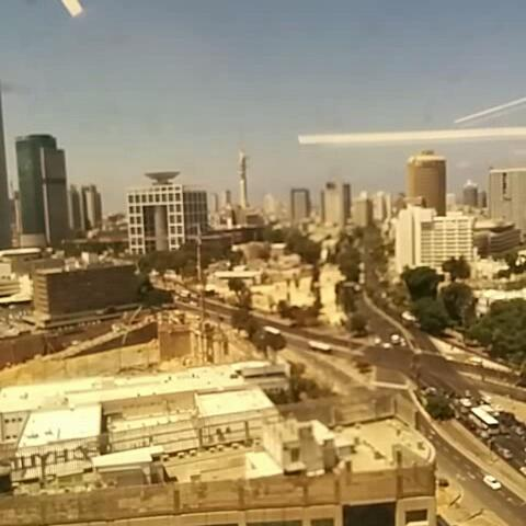 Iron dome intercept right above my office window - Idan Gazits post on Vine