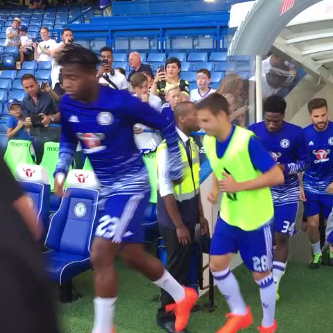 Vine by Chelsea FC - Warming up for Bristol Rovers...