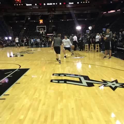 "Watch San Antonio Spurs's Vine ""Danny knocking down some 3s before Game 2. #GoSpursGo"""