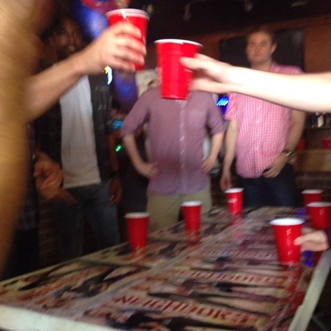 #DaveFranco tries to keep his team going in #FlipCup. #NeighborsMovie #Schotshis #TAMU - Nikki Schlegels post on Vine