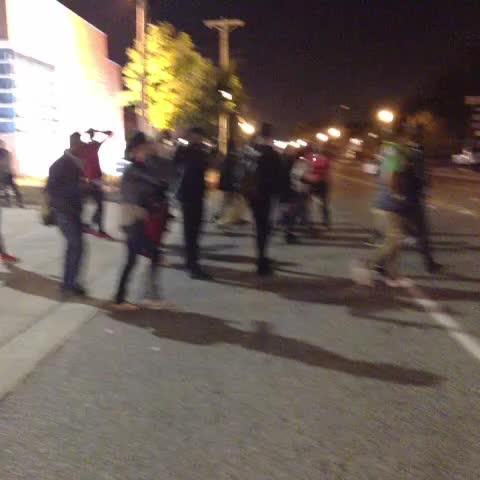 #FERGUSON. Protesters go to speak to Capt Ron Johnson. - Nettas post on Vine