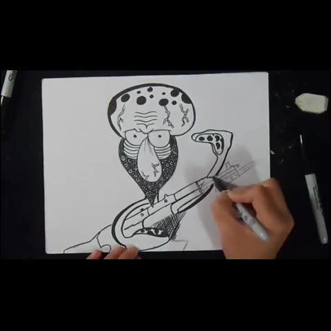 Watch ZäXxs Vine, \u0026quot;Dibujo Drawing Graffiti ZaXx Urbanart Spraycan calamardo spray Grafite граффити spongebob рисунок Zeichnung desenho dess\u0026quot;