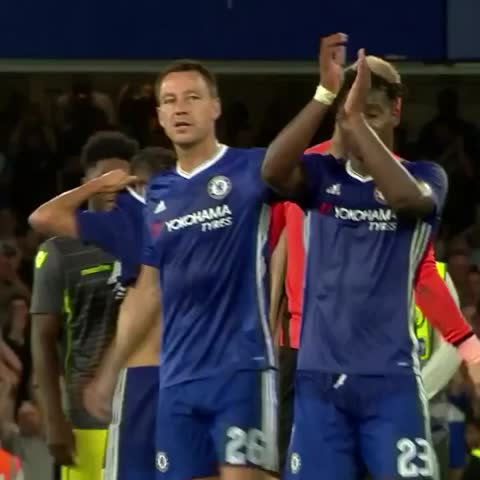Vine by Chelsea FC - John Terry and Michy Batshuayi at full-time...