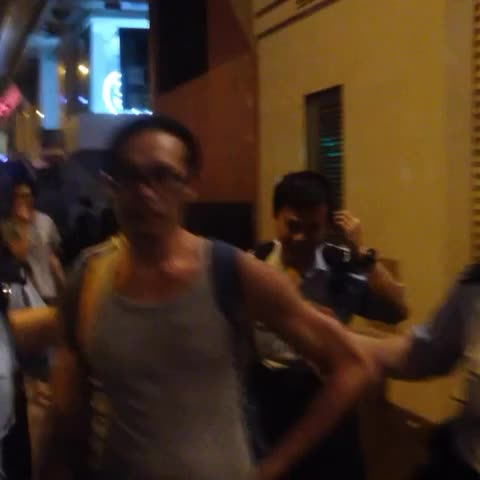 "Blue ribbon guy said ""what about I stop you shooting huh?"" pointing at my face. #occupyhk - krislccs post on Vine"