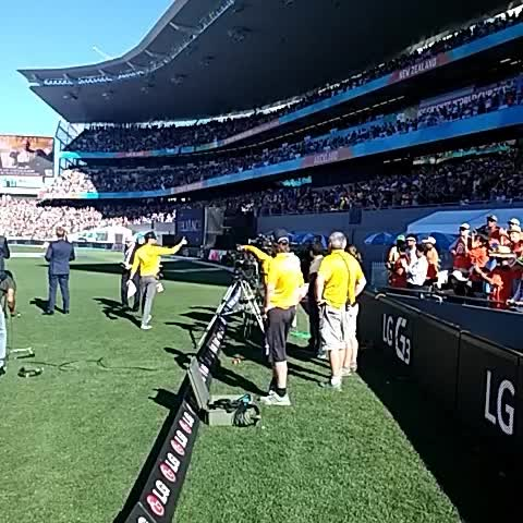 Vine by ICC - Amazing ovation for Martin Crowe as he is inducted into @ICC Hall of Fame at Eden Park #cwc15 #AUSvNZ