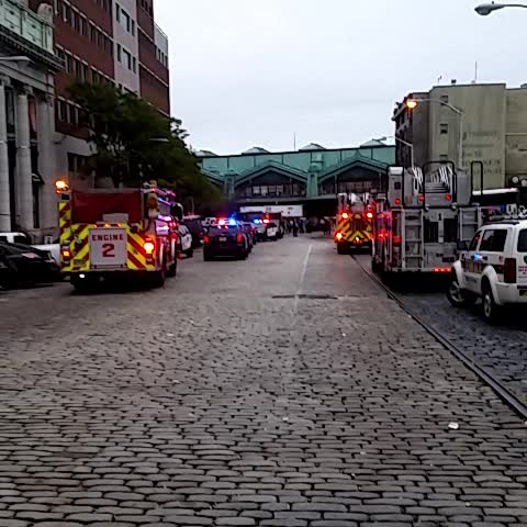 Vine by Noah Zucker - Scene at Hoboken NJ Transit Terminal right now. Tons of police and first responders.