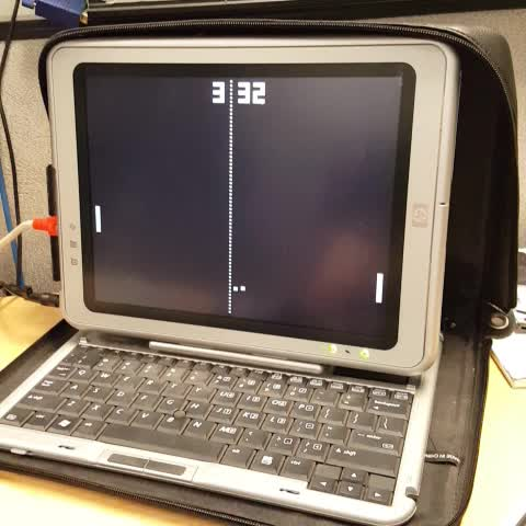 Watch ad inistrator 39 s vine pong clock screensaver making use of an old tablet the score is - Six uses old tablet ...