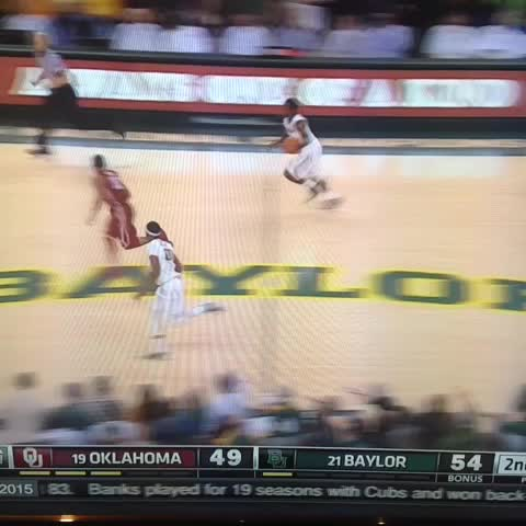 Rico Gathers dunk for Baylor - Vine by Molly Geary - Rico Gathers dunk for Baylor