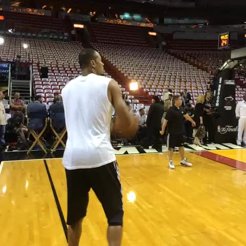NBAs post on Vine - Vine by NBA - Rashard Lewis of the @MiamiHEAT warms up his trey ball for tonights #NBAFinals Game 3 on ABC.