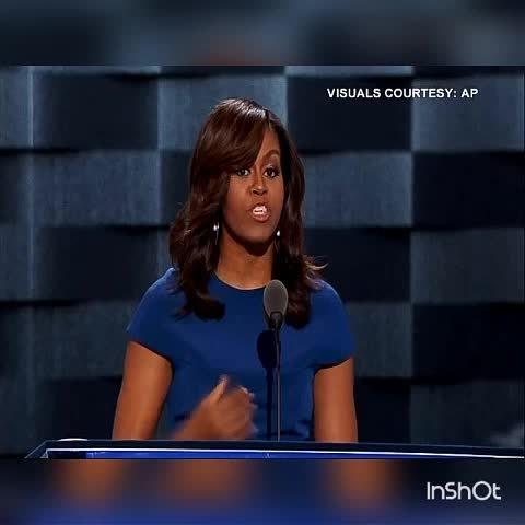 Vine by TIMES NOW - Only one person I believe is truly qualified to be President of US, thats Hillary Clinton: Michelle Obama