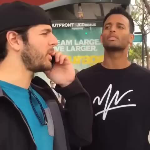Vine by Tarek Abdelkhalig - When your friend takes things too literal. KyleJohnMoore, ATMlifestyle, Deeds #literally #chinesetheater #LA #Hollywood #whatdoyoumean