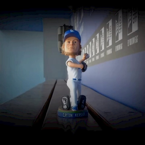"The Clayton Kershaw ""Cy Young"" Bobblehead presented by Time Warner Cable: - Dodgerss post on Vine"