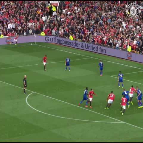 Vine by Manchester United - Paul Pogba v Leicester #MUFC