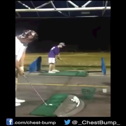 Chest-Bumps post on Vine - Assisted golf shot... #golfvines - Chest-Bumps post on Vine