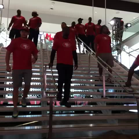 The #49ers have arrived for the annual Pasta Bowl at #LevisStadium. - 49erss post on Vine