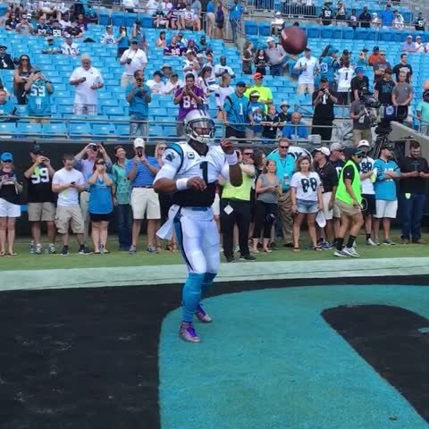 Vine by Carolina Panthers - Getting the arm ready 💪