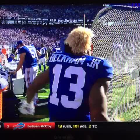Vine by Barely In Bounds - Kicking net 1, Odell Beckham 0
