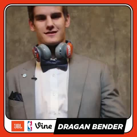 Vine by NBA - .@suns, Dragan Bender making it official with his first autograph at the @JBLaudio #SignedVine #NBADraft
