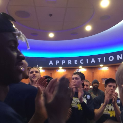 The best fight song. - Michigan Basketballs post on Vine
