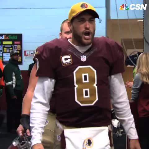 low priced 632bf c3a0c After beating Vikings, Kirk Cousins celebrates with 'You ...