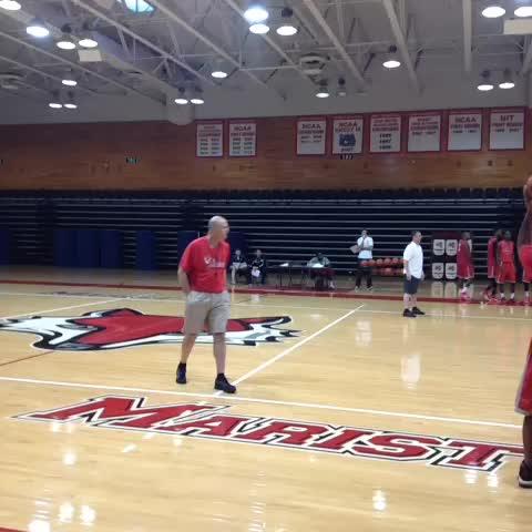 Sean McManns post on Vine - .@Coach_Maker runs the @MaristAthletics MBB team through a loud, active practice. #maachoops - Sean McManns post on Vine