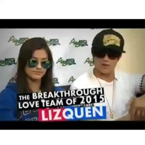 Vine by enwike pls - Q: ..like its a bad thing to fall in love with me🎶 L: Mahal kita pero🎶  PUCHA NAMAN AGNES!! 😍😍🔫 ©lizquenmeast