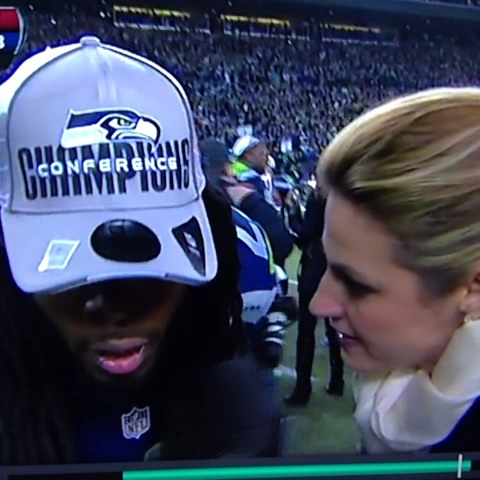 Richard Sherman. Wow. #Seahawks