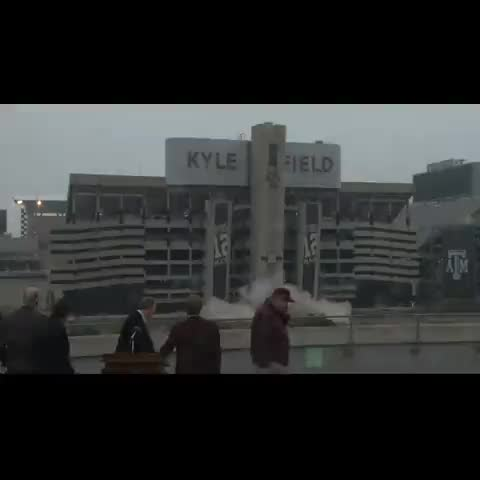 Kyle Fields west side is no more. - Vine by TexAgs - Kyle Fields west side is no more.
