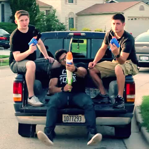 Water Gun Drive-By With 2 Guys With No Lives - Mo Khans post on Vine