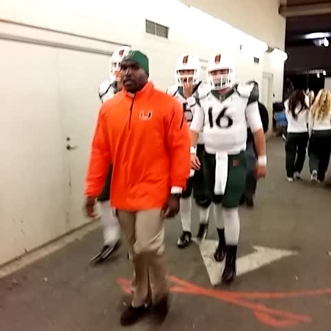 Say hi to the Canes QBs #BeatUVa - Miami Hurricaness post on Vine