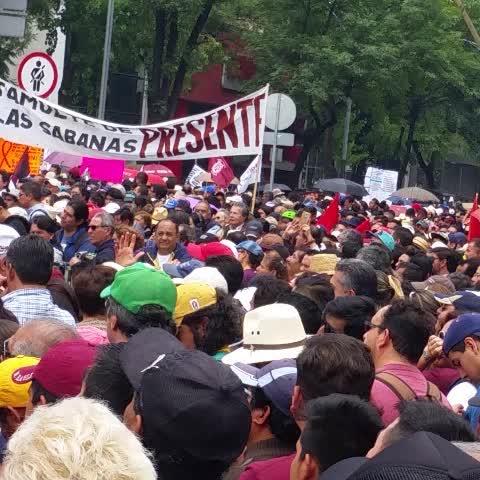 Vine by Coordinadora1DMX - Miles en Reforma en apoyo al magisterio CNTE #AbrogaciónReformaEducativa