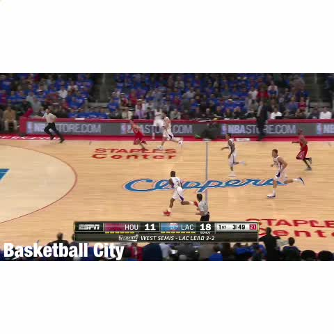 """Watch Basketball City's Vine """"Chris Paul dishes it to ..."""