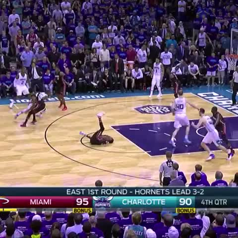 Vine by Miami HEAT - Dwyane Wade closes Game 6. ⚡️✋
