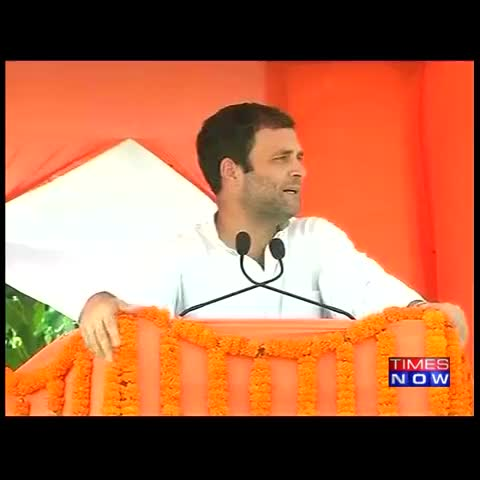 Vine by TIMES NOW - Modi made many promises. I havent met anyone in whose account money that was promised was credited: Cong VP Rahul Gandhi #BattlegroundBihar