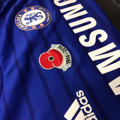 Preparing for Saturday. The players will be wearing shirts embroidered with poppies in support of the Royal British Legion. #CFC - Chelsea FCs post on Vine